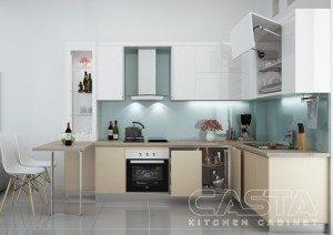 Tủ Bếp Gỗ Công Nghiệp 087C