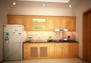 Tủ Bếp Gỗ Rẻ Đẹp 001D