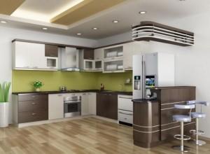 Tủ Bếp Gỗ Rẻ Đẹp 005D