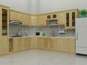Tủ Bếp Gỗ Rẻ Đẹp 006D