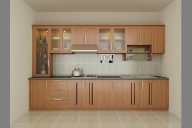 Tủ Bếp Gỗ Rẻ Đẹp 098D
