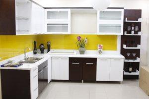 Tủ Bếp Gỗ Rẻ Đẹp 099D