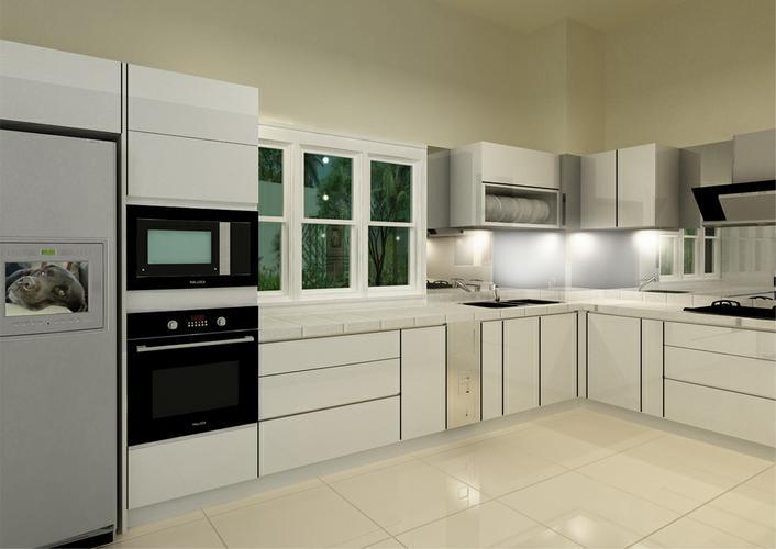 Mẫu tủ bếp hiện đại 18