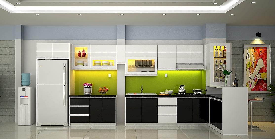 Mẫu tủ bếp hiện đại 16