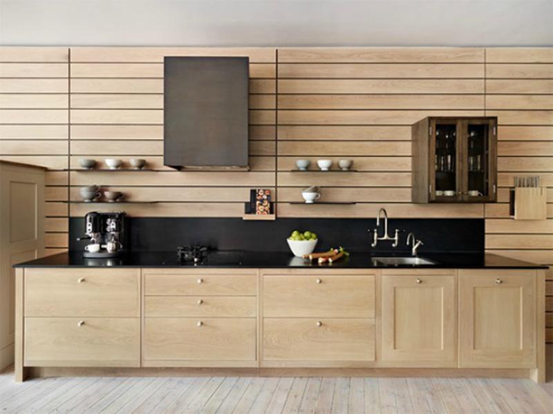 Kệ bếp gỗ công nghiệp 010