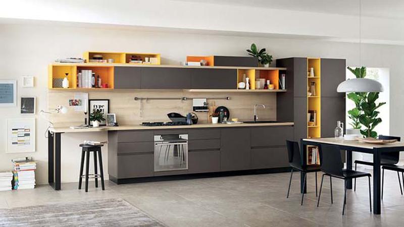 Kệ bếp gỗ công nghiệp 013
