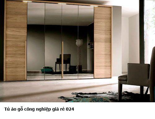 Tủ áo gỗ công nghiệp giá rẻ 024
