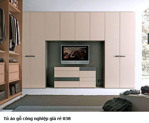Tủ áo gỗ công nghiệp giá rẻ 038