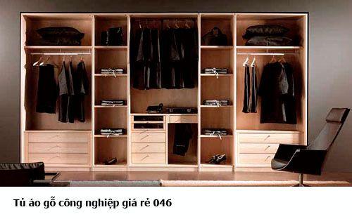 Tủ áo gỗ công nghiệp giá rẻ 046