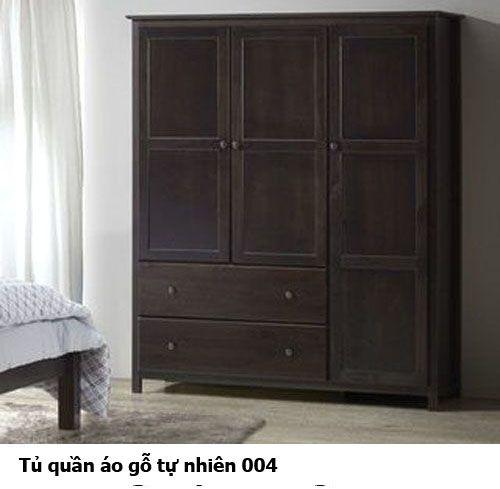 Tủ áo gỗ tự nhiên giá rẻ 004