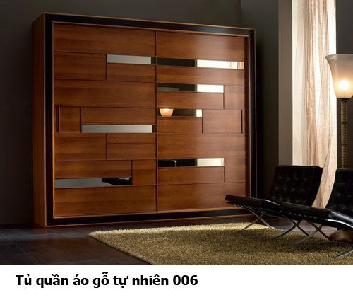 Tủ áo gỗ tự nhiên giá rẻ 006