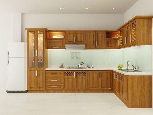Tủ bếp gỗ tự nhiên giá rẻ 049