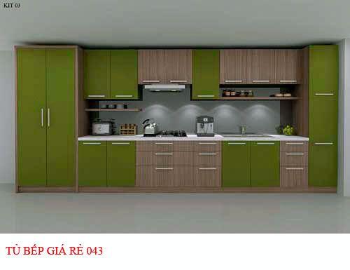 Tủ bếp giá rẻ 043