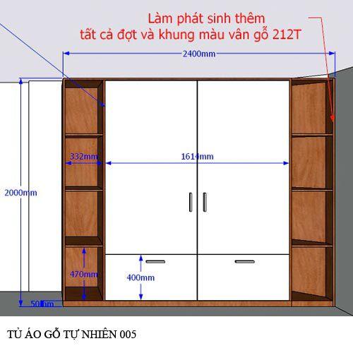 Tủ quần áo gỗ công nghiệp 005