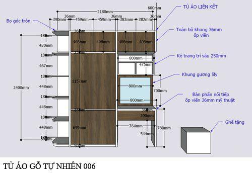 Tủ quần áo gỗ công nghiệp 006