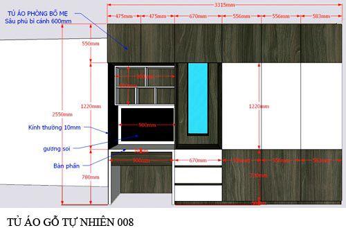 Tủ quần áo gỗ công nghiệp 008