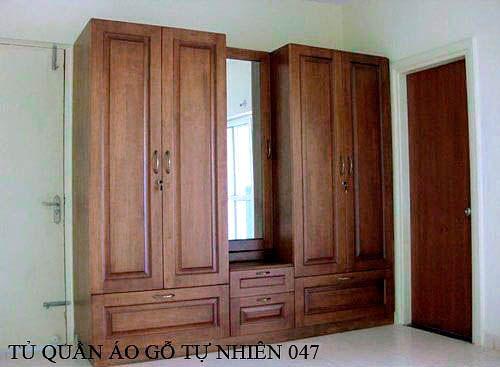Tủ quần áo gỗ tự nhiên 047