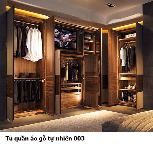 Tủ quần áo gỗ tự nhiên giá rẻ 003