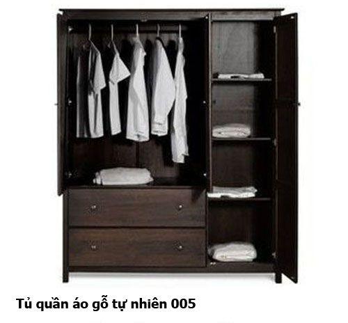 Tủ quần áo gỗ tự nhiên giá rẻ 005