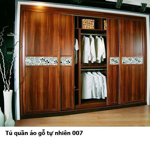 Tủ quần áo gỗ tự nhiên giá rẻ 007