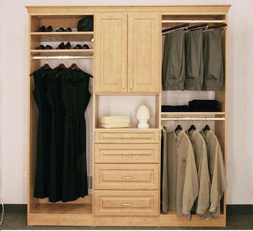 Tủ quần áo gỗ tự nhiên giá rẻ 010