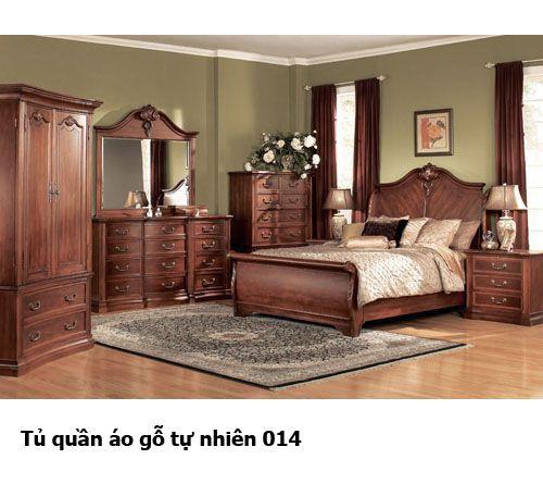Tủ quần áo gỗ tự nhiên giá rẻ 014