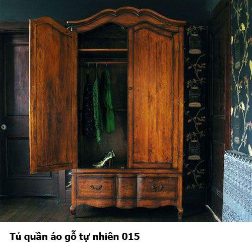 Tủ quần áo gỗ tự nhiên giá rẻ 015