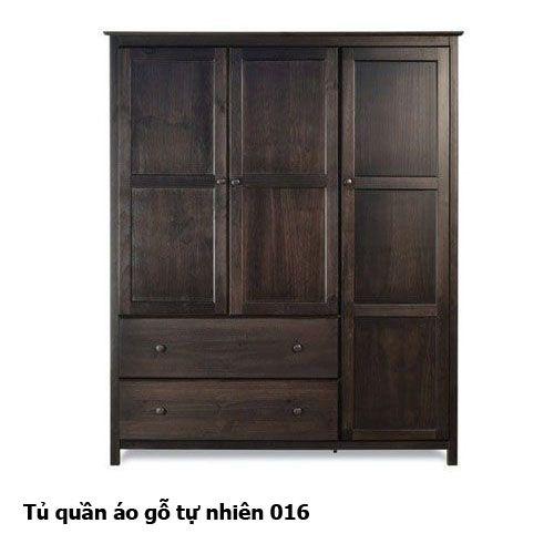 Tủ quần áo gỗ tự nhiên giá rẻ 016