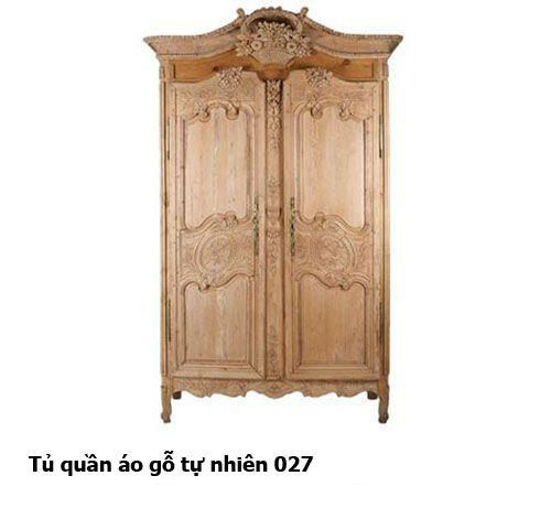 Tủ quần áo gỗ tự nhiên giá rẻ 027