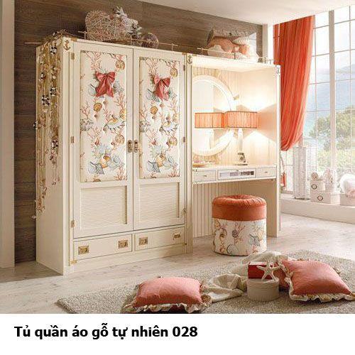 Tủ quần áo gỗ tự nhiên giá rẻ 028