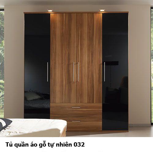 Tủ quần áo gỗ tự nhiên giá rẻ 032