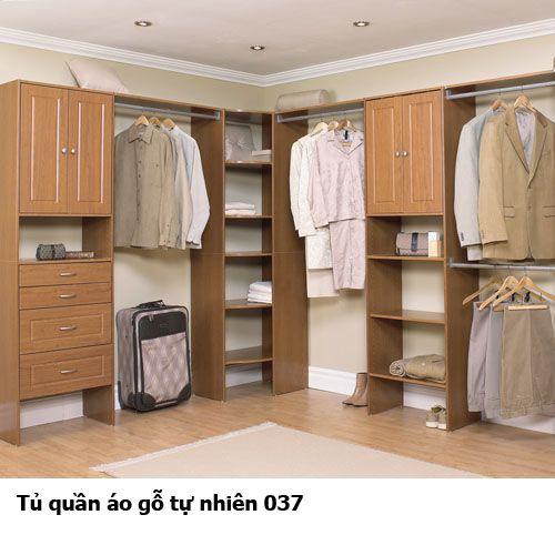 Tủ quần áo gỗ tự nhiên giá rẻ 037