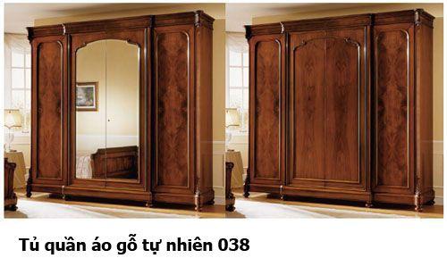 Tủ quần áo gỗ tự nhiên giá rẻ 038