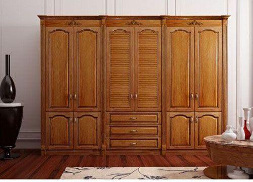 Tủ quần áo gỗ tự nhiên giá rẻ 039