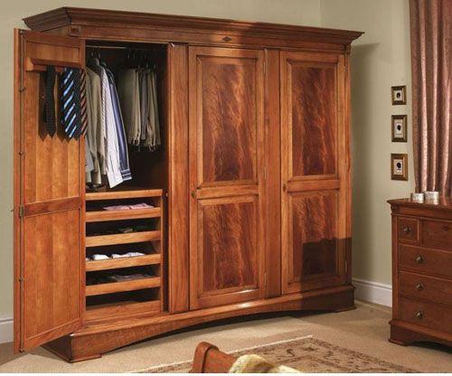 Tủ quần áo gỗ tự nhiên giá rẻ 040