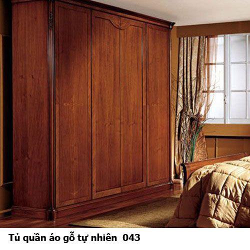 Tủ quần áo gỗ tự nhiên giá rẻ 043