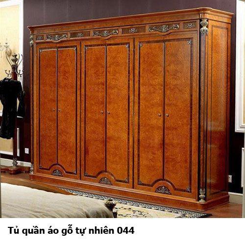 Tủ quần áo gỗ tự nhiên giá rẻ 044