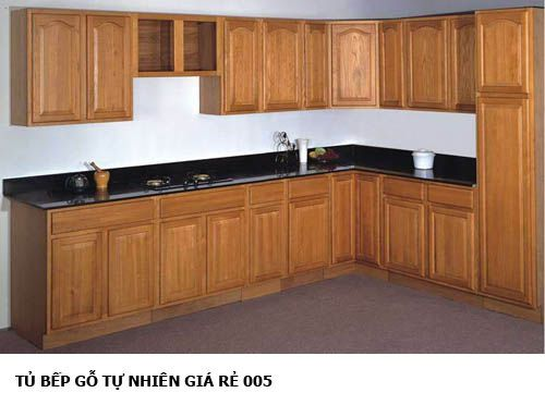 tủ bếp gỗ tự nhiên giá rẻ 005
