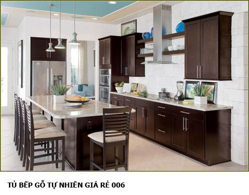 tủ bếp gỗ tự nhiên giá rẻ 006