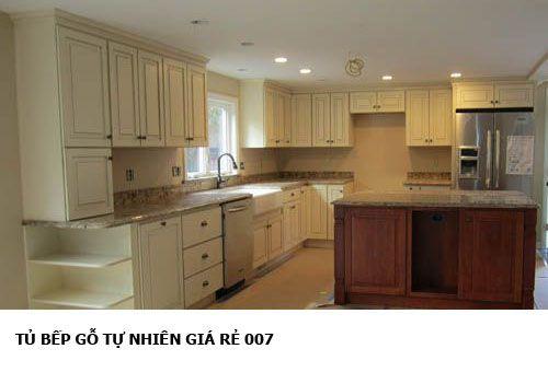 tủ bếp gỗ tự nhiên giá rẻ 007