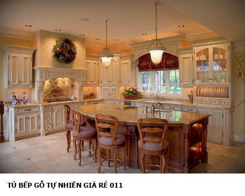 tủ bếp gỗ tự nhiên giá rẻ 011