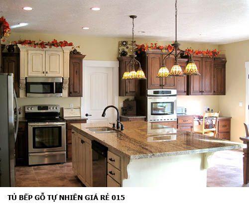 tủ bếp gỗ tự nhiên giá rẻ 015