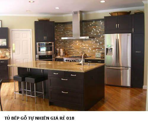 tủ bếp gỗ tự nhiên giá rẻ 018