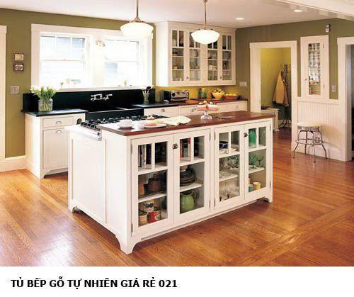 tủ bếp gỗ tự nhiên giá rẻ 021