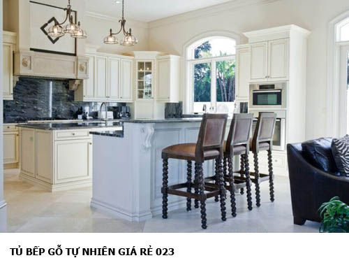 tủ bếp gỗ tự nhiên giá rẻ 023