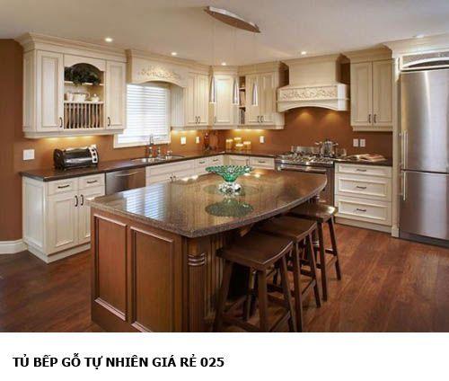 tủ bếp gỗ tự nhiên giá rẻ 025