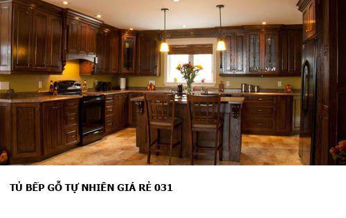 tủ bếp gỗ tự nhiên giá rẻ 031