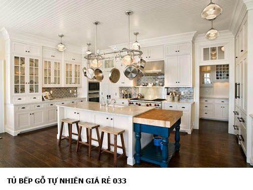 tủ bếp gỗ tự nhiên giá rẻ 033