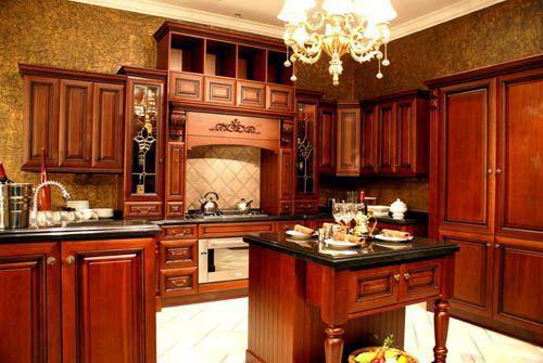 tủ bếp gỗ tự nhiên giá rẻ 039