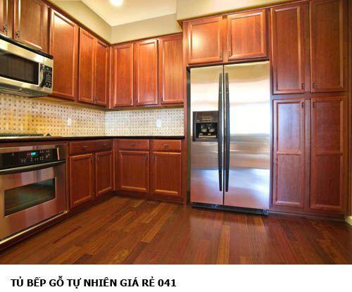 tủ bếp gỗ tự nhiên giá rẻ 041